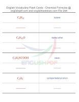 Vocabulary flash cards   chemical formulas44