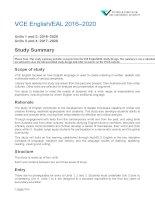 English EAL study summary 2016
