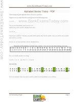 Alphabet series tricks
