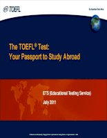 TOEFL for leanning english