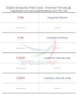 Vocabulary flash cards   chemical formulas102