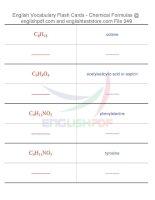 Vocabulary flash cards   chemical formulas49