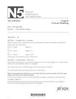 English critical reading SQPN