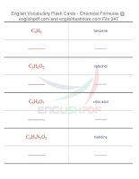Vocabulary flash cards   chemical formulas47