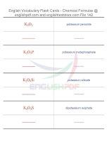 Vocabulary flash cards   chemical formulas142