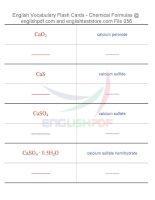 Vocabulary flash cards   chemical formulas56