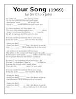 55274 song your song by elton john to practise feelings vocabulary