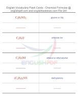 Vocabulary flash cards   chemical formulas41