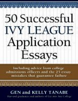 50 successful ivy league application ssays
