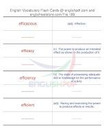 TOEFL IBT vocabulary flash cards189