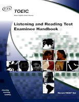 TOEIC handbook  for learnning english