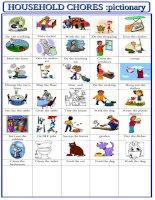 houshold chores pictionary