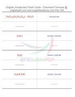 Vocabulary flash cards   chemical formulas163
