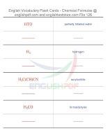 Vocabulary flash cards   chemical formulas126