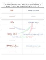 Vocabulary flash cards   chemical formulas130