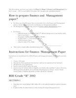 RBI grade b mains finance 2002 to 2012
