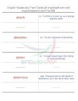 TOEFL IBT vocabulary flash cards06