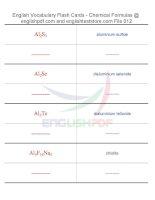 Vocabulary flash cards   chemical formulas12