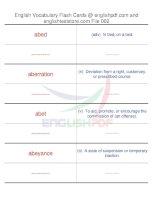 TOEFL IBT vocabulary flash cards02