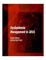 Cập nhật điều trị Rối loạn Lipid máu năm 2016