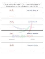 Vocabulary flash cards   chemical formulas16