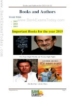 Books and authors year wise