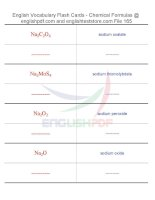 Vocabulary flash cards   chemical formulas165