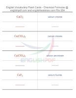 Vocabulary flash cards   chemical formulas54