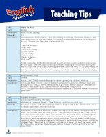 English adventure teaching tips from companion website