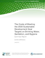 The Costs of Meeting the 2030 Sustainable Development Goal Targets on Drinking Water, Sanitation, and Hygiene Summary Report