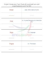 TOEFL IBT vocabulary flash cards345