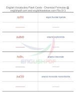 Vocabulary flash cards   chemical formulas13