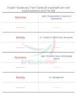 TOEFL IBT vocabulary flash cards228