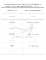 Vocabulary flash cards   chemical formulas167
