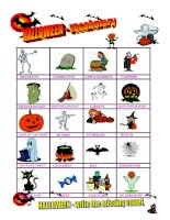 11296 halloween  vocabulary  missing vowel