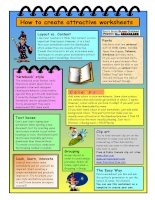 17064 how to create attractive worksheets