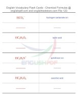 Vocabulary flash cards   chemical formulas123