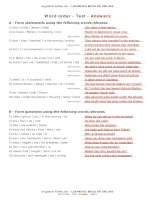test word order en answers