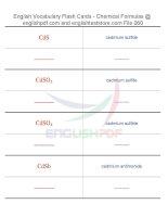 Vocabulary flash cards   chemical formulas60