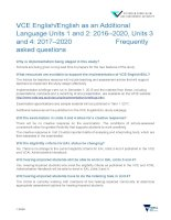 Frequently asked questions EnglishEAL