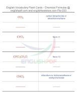 Vocabulary flash cards   chemical formulas33