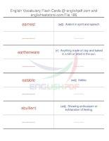 TOEFL IBT vocabulary flash cards186