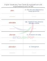 TOEFL IBT vocabulary flash cards25