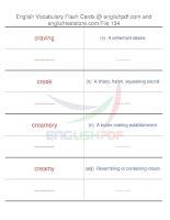 TOEFL IBT vocabulary flash cards134