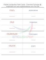 Vocabulary flash cards   chemical formulas34