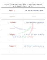 TOEFL IBT vocabulary flash cards261