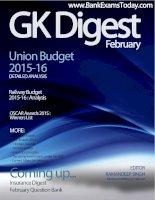Union budget, railway budget and awards