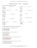 test simple present en answers