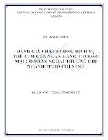 ĐÁNH GIÁ CHẤT LƯỢNG DỊCH vụ THẺ ATM của NGÂN HÀNG THƯƠNG mại cổ PHẦN NGOẠI THƯƠNG CHI NHÁNH TP hồ CHÍ MINH
