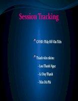 CHUYÊN đề JAVA session tracking
